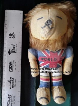 World Cup Willie 1966 10 inch larger cuddly toy doll England original mascot WC66 back no tail